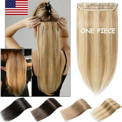 (Ad) One Piece 100% Remy Clip In Human Hair Extens…