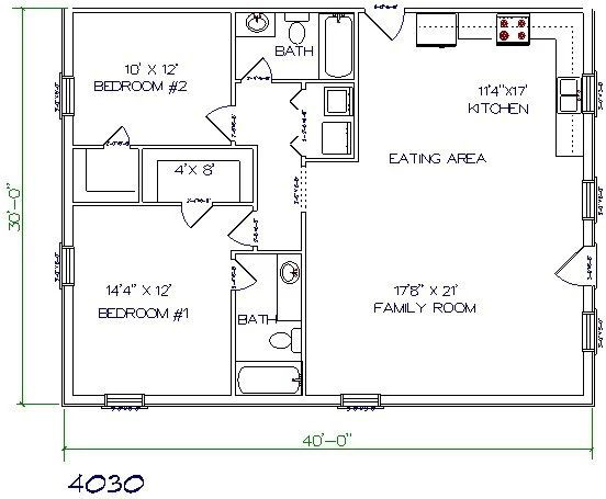 24 best house designs images on pinterest small home for Barndominium floor plans with garage