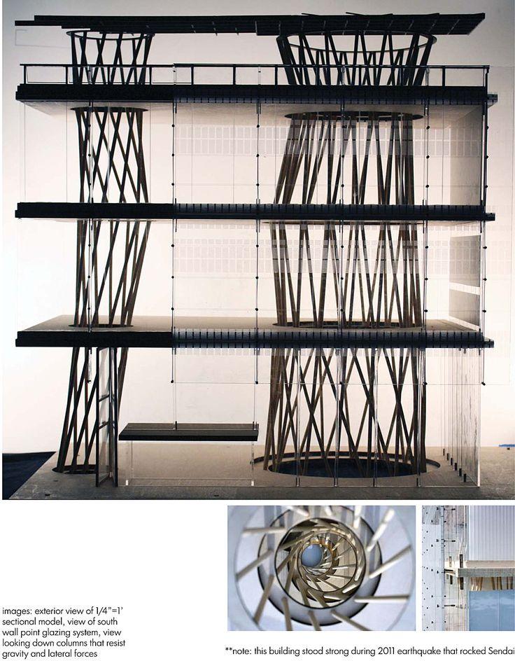 Fabrication model: Sendai Mediatheque | Winter D'Angelillo | Archinect