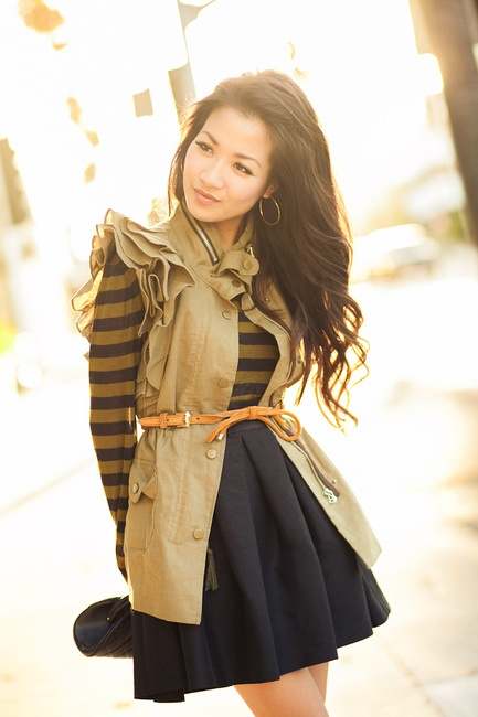 love this ruffle-sleeved vest {perfect for fall! }