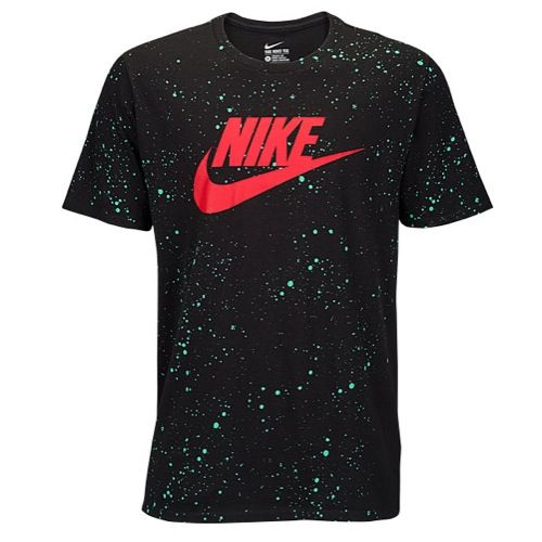 Nike Graphic T-Shirt, men's Black/Emerald/Red