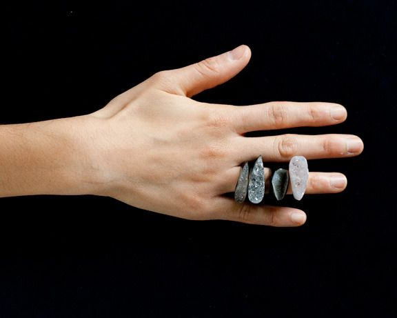 druzy ring with quartz crystal