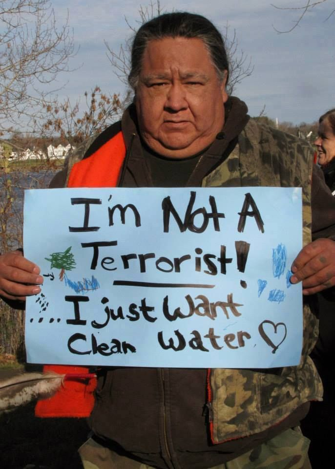 The New Face of Terrorism According To Your Government: Monkton Anti-Fracking Protester.  Source: Disclose.tv