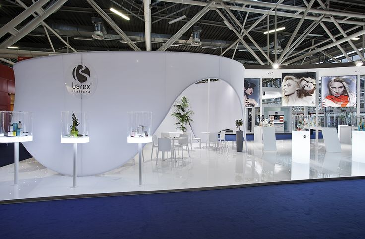 Barex - Cosmoprof Bologna  #exhibition #design #fabric #canvas #architecture #temporary #light #space #white #stand