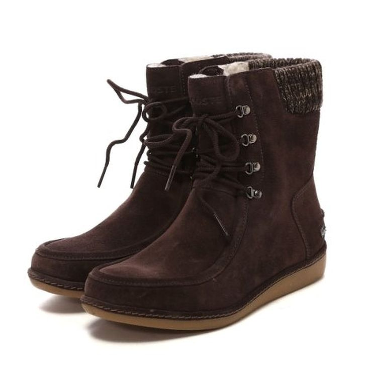 Lacoste Womens Alyson SRW Suede Boots