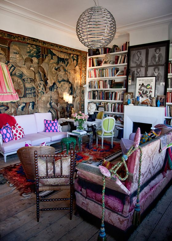 At Home With Gert Voorjans Eclectic Living RoomLiving