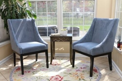 Microfiber-Modern-Sofa-Arm-Chairs-Set-of-2-Blue-Chair-living-Room-Legs-Espresso