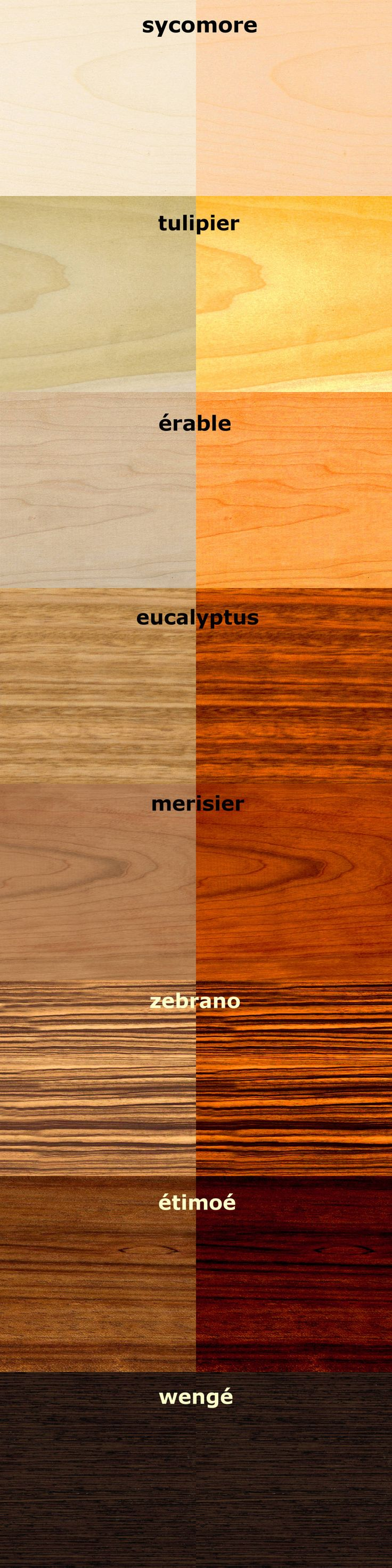 Gamme des essences de bois : Accessoires & décoration par Arte Lucem