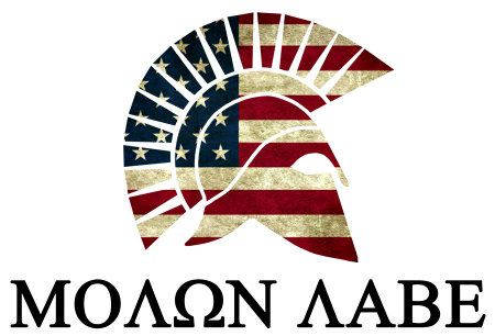 """The phrase molon labe. Modern Greek pronunciation [moˈlon laˈve] means """"Come and take them!"""" It is a classical expression of defiance reportedly spoken by King Leonidas I in response to the Persian army's demand that the Spartans surrender their weapons at the Battle of Thermopylae."""
