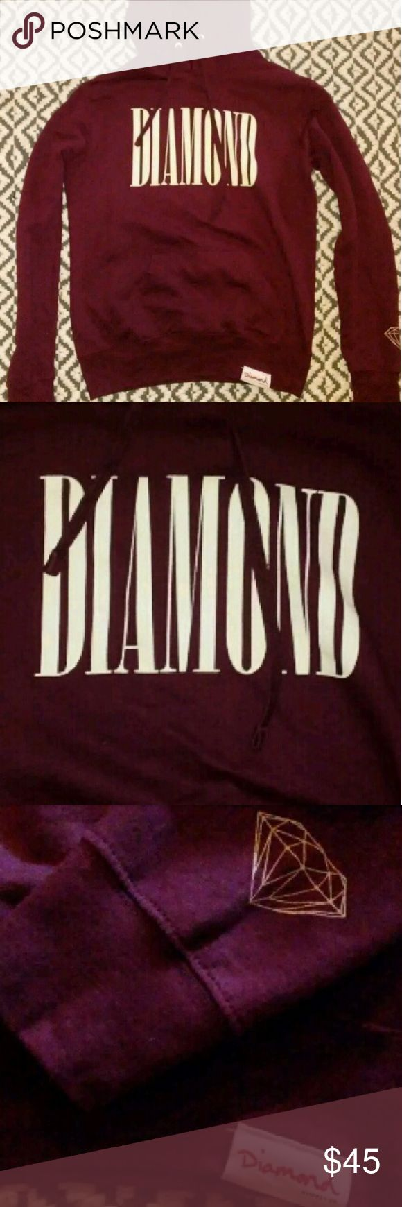 Diamond Supply Company Co Hoodie Sweatshirt XS Only worn once. Laid flat to dry. Gorgeous. Diamond Supply Co. Tops Sweatshirts & Hoodies