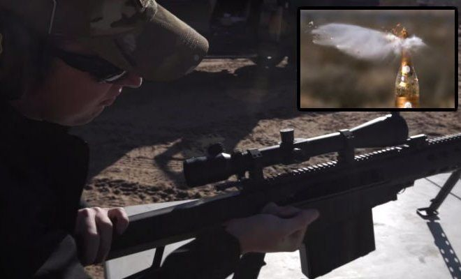 Only A Boss Opens Champagne Bottles With A 50 Cal Sniper Rifle!