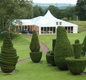 Wedding venue Fingask Castle Losberger uniflex