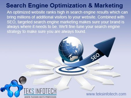 Social Media Optimization is a unique and most effective method of attracting huge crowd towards a website and its content. Here at Teks Infotech we offer excellent SMO services for your business promotion and improved visibility.