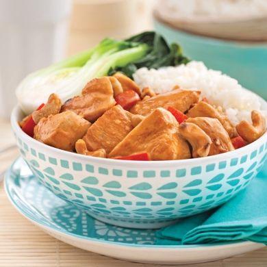 Cari au poulet et noix de cajou - Recettes - Cuisine et nutrition - Pratico Pratiques