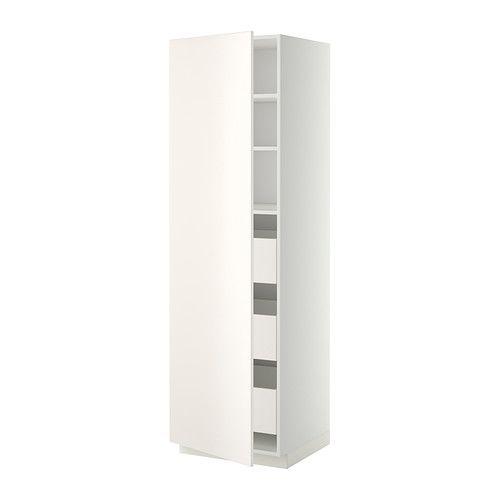 metod maximera h jskab med skuffer hvid veddinge hvid ikea. Black Bedroom Furniture Sets. Home Design Ideas