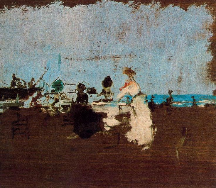 """""""Señoras en la playa"""" de Ignacio Pinazo Camarlench (1849-1916, Spain)"""