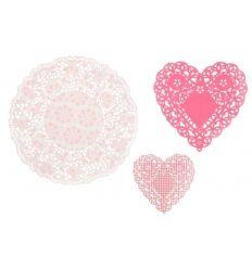 Blondas forma corazón rosas
