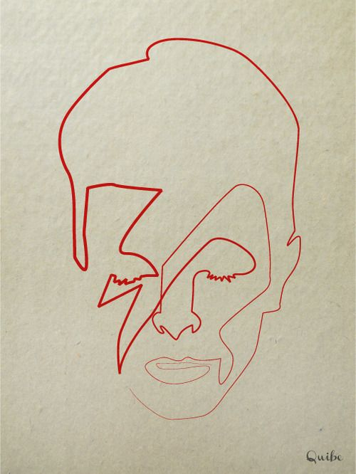 Artist Quibe created a series of minimalistic portraits by using nothing but a single line.