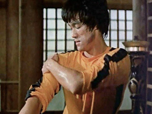 Bruce behind the scenes of, The Game of death