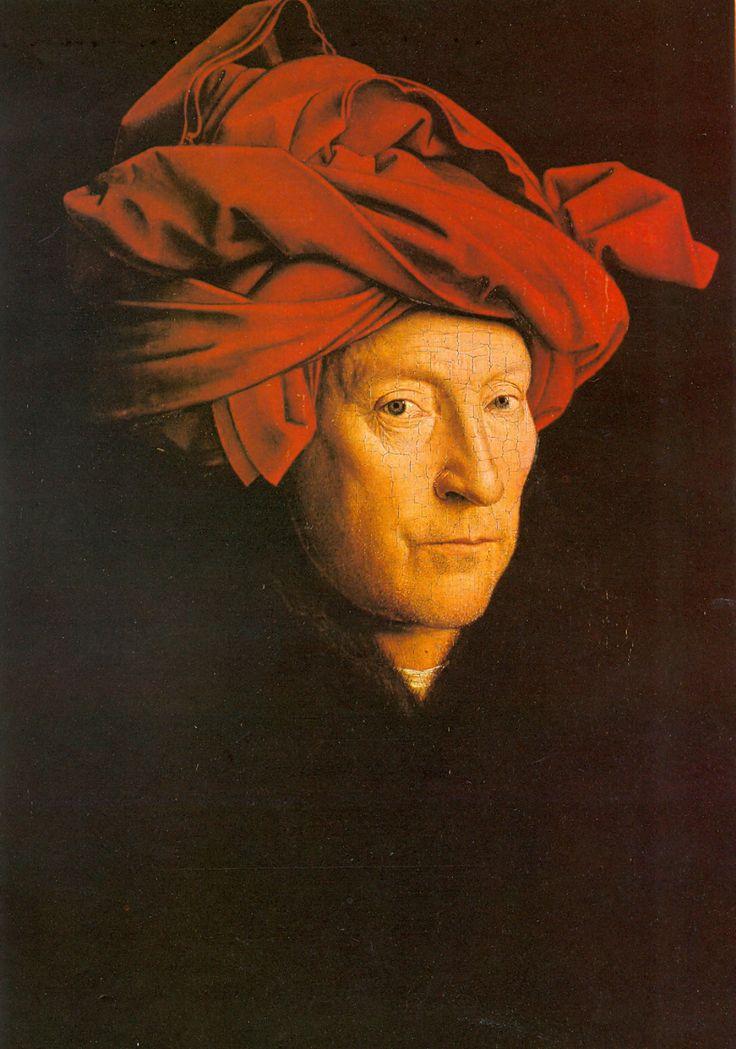 11. Mężczyzna w czerw. turbanie (Autoportret?), van Eyck