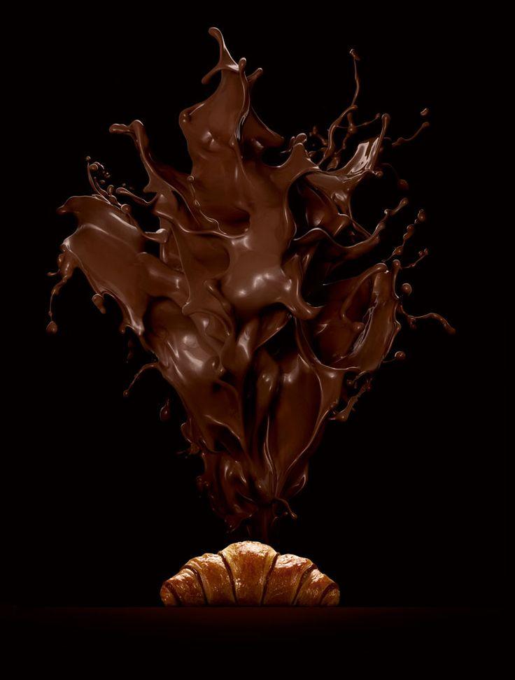 Chocolate Croissant by Fulvio Bonavia #croissant #chocolate #stilllife #manipulation