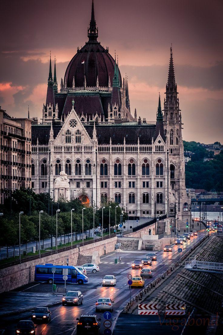 Dusk in Budapest, Hungary