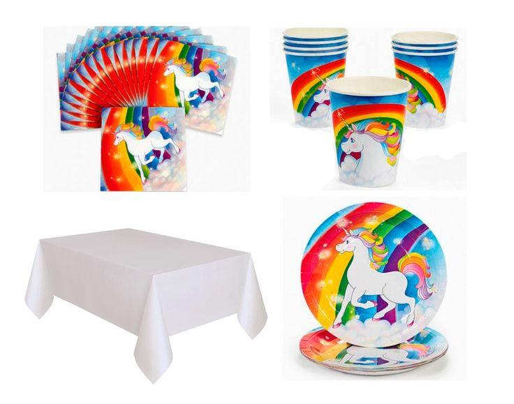 Rainbow Unicorn Party Tableware Set for 8 - Kids Parties  sc 1 st  Pinterest & 63 best Kids Craft Parties images on Pinterest | Craft party ...
