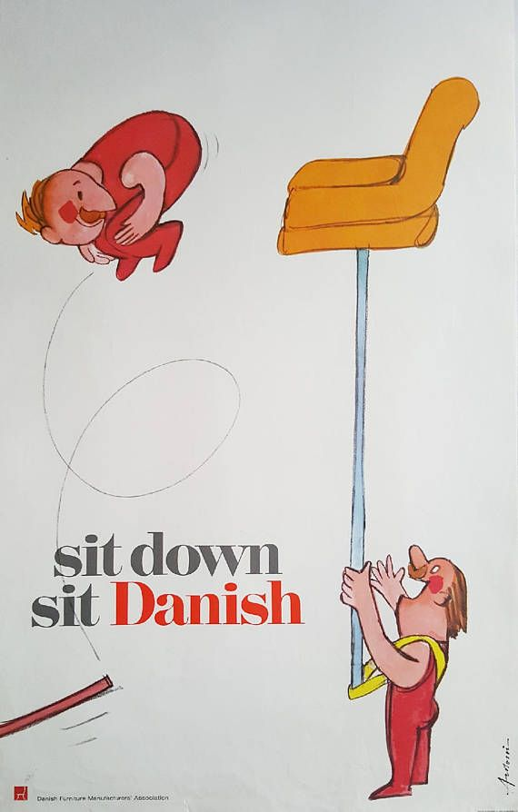 1970s Danish Furniture Quality Control by Antoni Acrobats