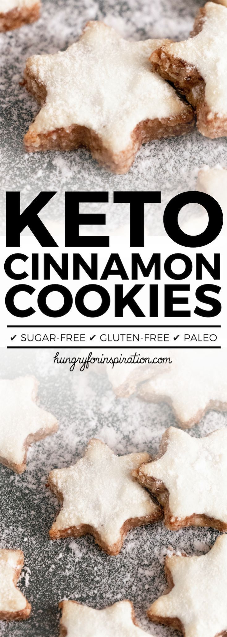 These Keto Cinnamon Star Cookies will be a perfect addition to your holiday cel…