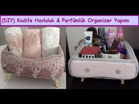 DIY | Kadife Makyaj&Takı Kutusu Yapımı &Süsleme,Nasıl Yapılır| How To Makeup&Jewelry Box Decorations - YouTube