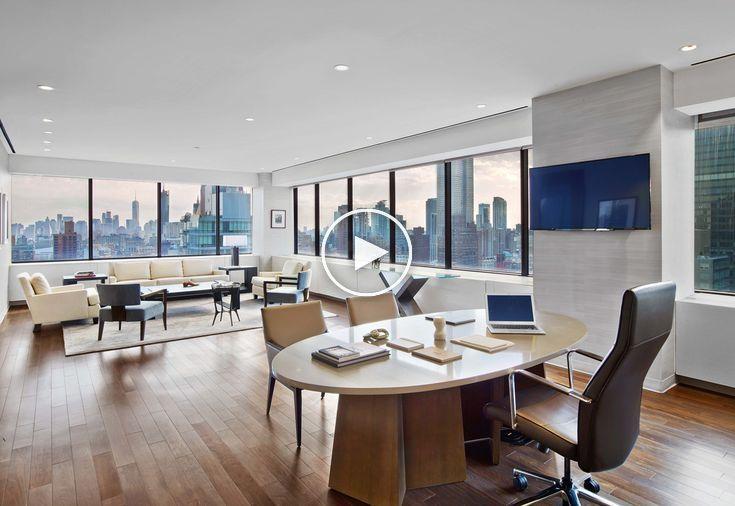 Visite De Bureaux Bureaux Mccann Worldgroup New York City Executive Office Design City Office Office Interiors