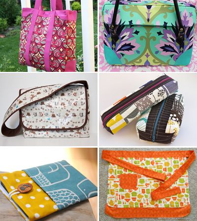 DIY sewing tutorials for different bags