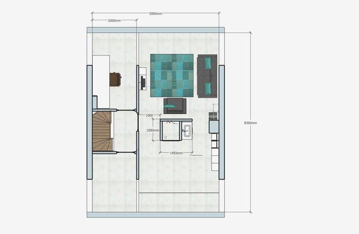 Plattegrond zolder  Offiz & Hoomz Slaapkamer, badkamer en zolder in ...