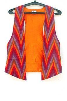 Aztec Print Waistcoat #ItrbyKhayatiPande
