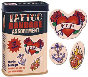 Cover up those booboos with cool band-aids.... do those come in  a brown skin complexion