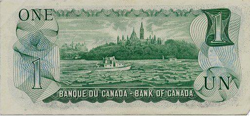 $ 1 billet canadien / Canadian $1 Bill (1/2)