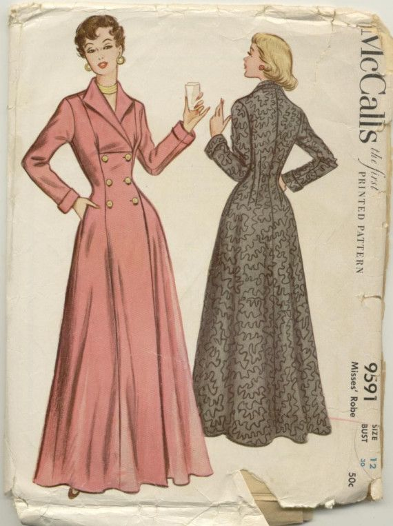Coachman S Robe Brunch Coat Sewing Pattern Vintage Mccall