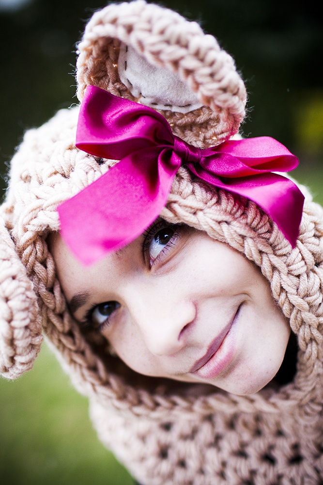 crochet hat and scraf in one:)