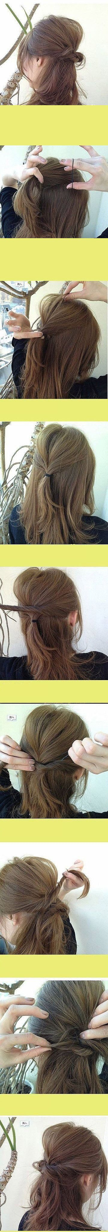 Beautiful Hair Tutorial   Click to see More Beauty Tutorials.