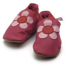 Poppy Fuchsia Soft Leather Baby Shoes Made and supplied by Star Child Shoes in #Leicestershire - £18.00