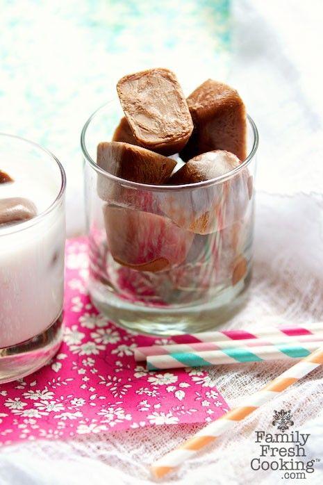 Frozen Hot Chocolate Ice Cubes Recipe | MarlaMeridith.com | © MarlaMeridith.com