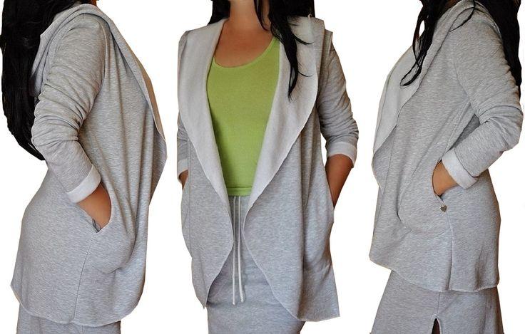 Bluza z kapturem w kilku rozmiarach- szara i czarna