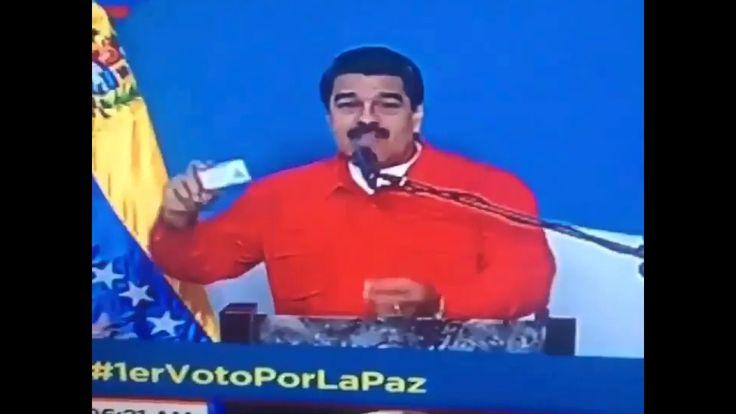 Insólito error de Maduro tras votar en la Constituyente 2017