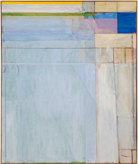 "Richard Diebenkorn, ""Ocean Park #54"" (1972) | painting | oil on canvas    Source: http://www.sfmoma.org/explore/collection/artwork/4418#ixzz1jC5HhKbd   San Francisco Museum of Modern Art"