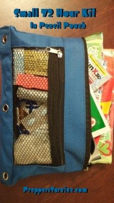 Pencil Pouch 72 Hour Kit or Get Home Bag - Preppers Survive