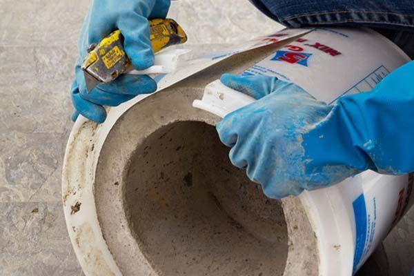 5 gallon bucket concrete planter