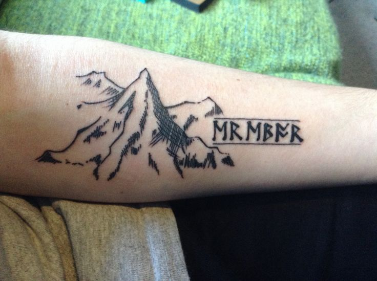 Kleine Tattoos Für Männer New Tattoo. The Hobbit, Erebor Tattoo (the Dwarvish Says
