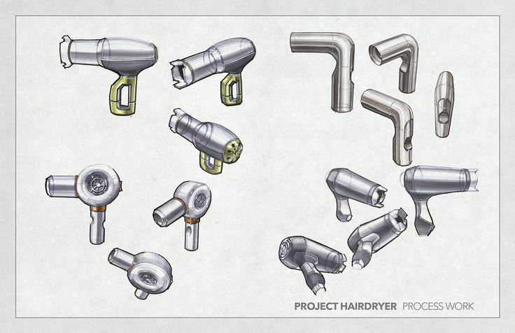Hair Dryer Concept Sketches on Behance