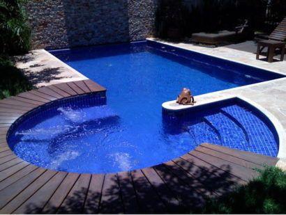 piscina de vinil com deck