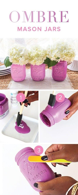 Ombre Mason Jar Vase